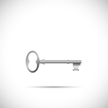 victorian gates: Illustration of a skeleton key isolated on a white background.