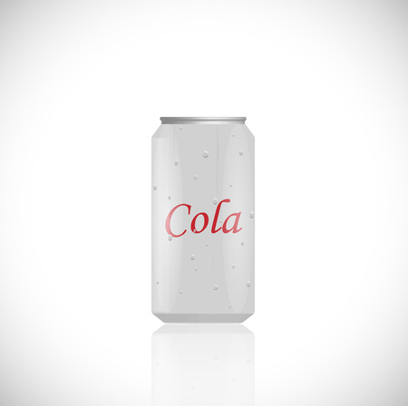 Illustration of an aluminum cola can isolated on a white background. Vector