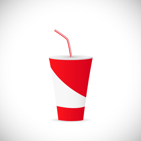 date night: Illustration of a soda fountain drink isolated on a white background.