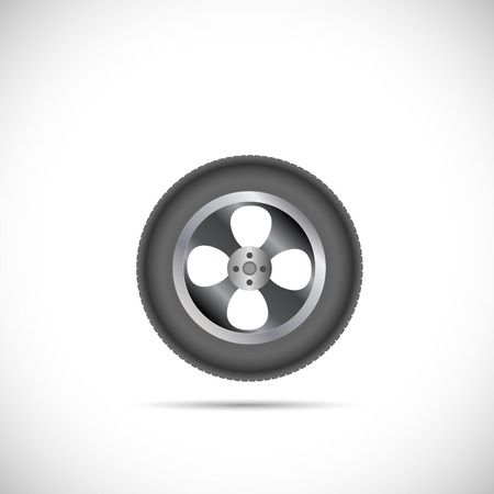 car tire: Illustration of a car tire isolated on a white background.
