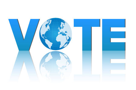 Illustration of a vote design isolated on a white background. Vector
