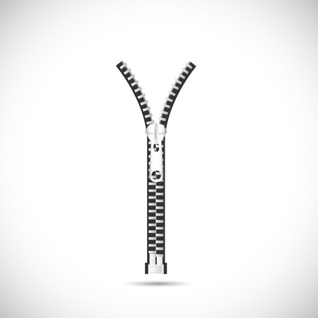 Illustration of a zipper isolated on a white background. Illustration