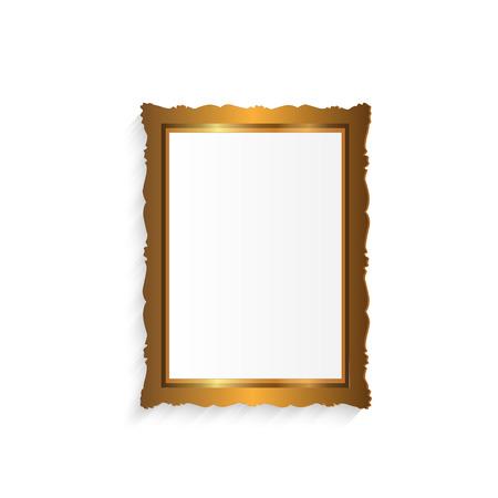 Illustration eines bunten Bilderrahmen isoliert auf weißem Hintergrund. Standard-Bild - 38210187