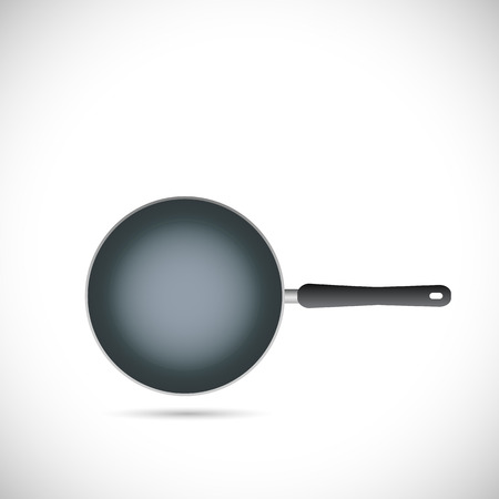 dripping pan: Illustration of a frying pan isolated on a white background.