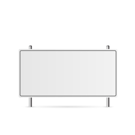Illustration of a blank highway sign isolated on a white background.  イラスト・ベクター素材