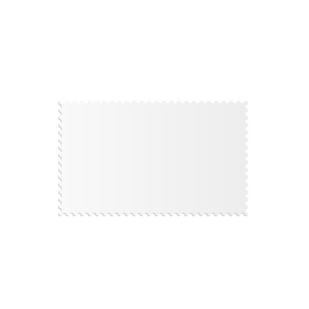 perforated: Illustration of a blank stamp isolated on a white background.