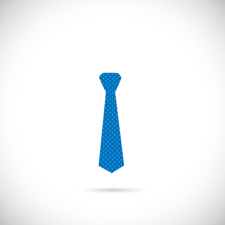 Illustration of a colorful blue tie isolated on a white background.