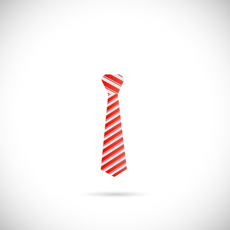 Illustration of a colorful red tie isolated on a white background.