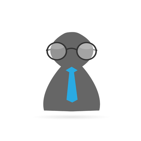 Illustration of an abstract business person isolated on a white background.