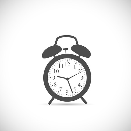 Illustration of an abstract clock design isolated on a white background.