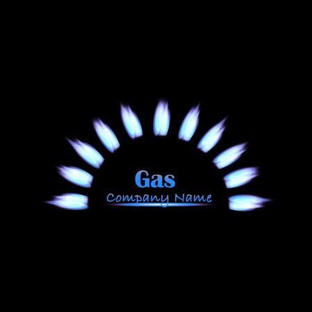 burner: Illustration of gas flames on a dark background.
