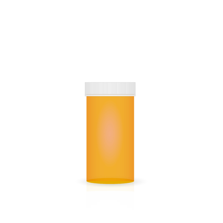 Illustration of a prescription bottle isolated on a white background. Ilustracja