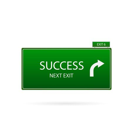 mile: Illustration of a success sign isolated on a white background. Illustration