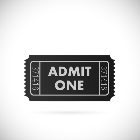 Illustration of a ticket isolated on a white background.