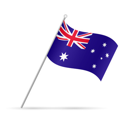 australian flag: Illustration of a flag from Australia isolated on a white background.