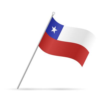 bandera de chile: Ilustración de una bandera de Chile aislado en un fondo blanco. Vectores