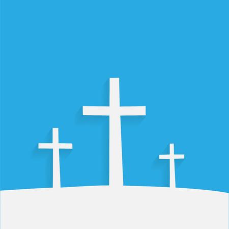 Ilustración de cruces religiosas contra un fondo colorido. Foto de archivo - 39520614