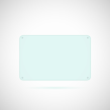 glass reflection: Illustration of a glass panel isolated on a white background. Illustration