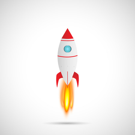 Illustration of a rocket isolated on a white background. Ilustrace