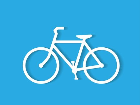 Illustration of a bicycle illustration on a colorful blue background. Ilustrace