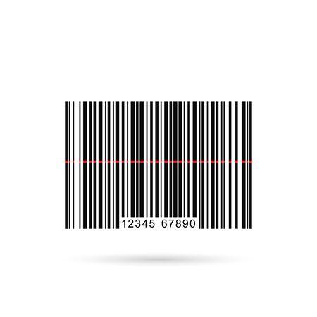 Vector afbeelding van een barcode die op een witte achtergrond. Stockfoto