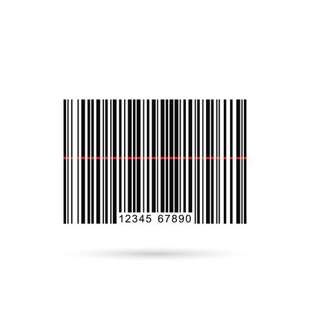 Vector image of a barcode isolated on a white background. photo