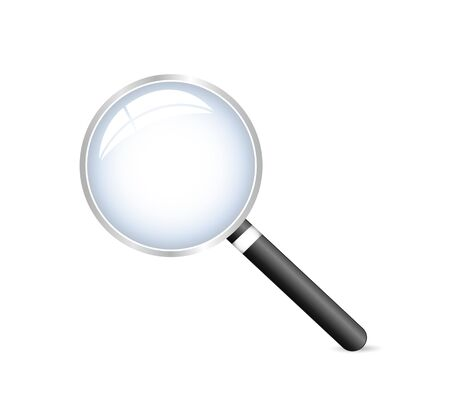 glass reflection: Illustration of a magnifying glass isolated on a white background.