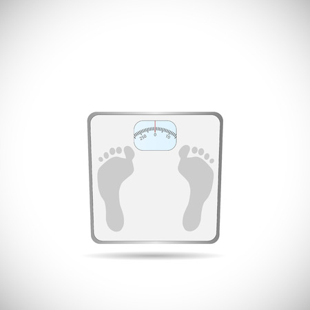 weighing scale: Illustration of a weighing scale isolated on a white background.