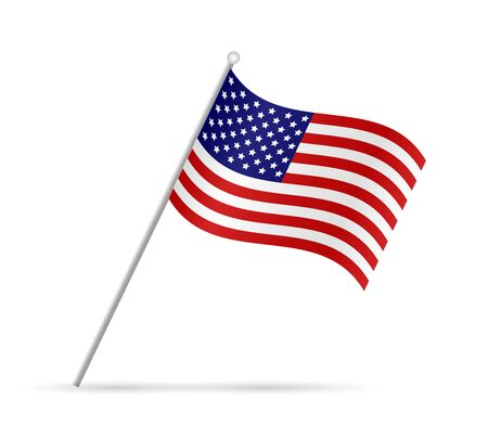 Illustration of a flag from the USA isolated on a white background. Reklamní fotografie