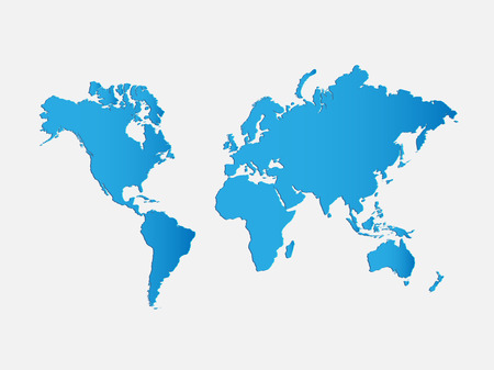 Illustration of a world map isolated on a white background.