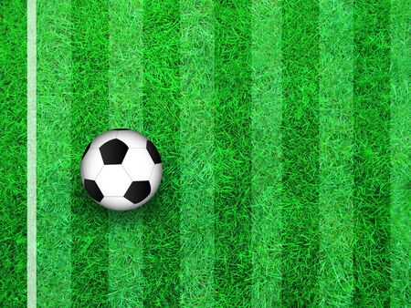 playing field: Illustration of a soccer ball on a playing field.