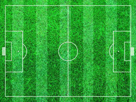 Illustration eines abstrakten Fußballfeld des grünen Grases. Standard-Bild - 39520776