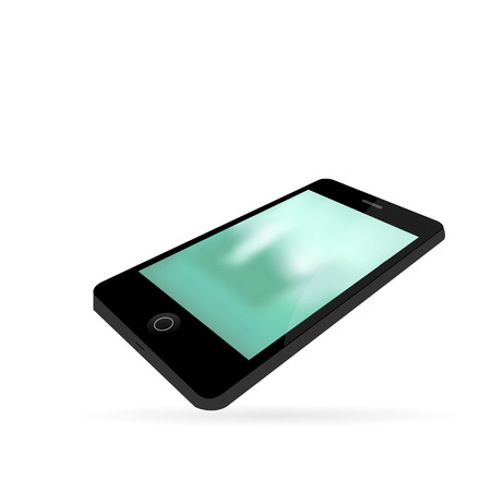 Smartphone isolated on a white background