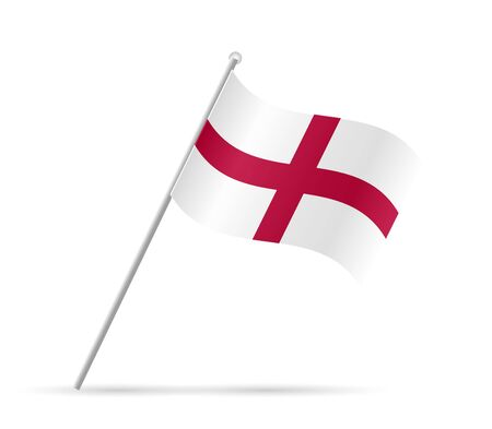 an island tradition: Illustration of a flag from England isolated on a white background.