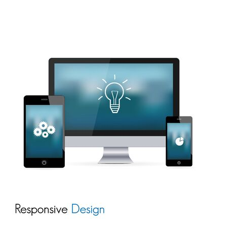 Responsive web design in electronic devices
