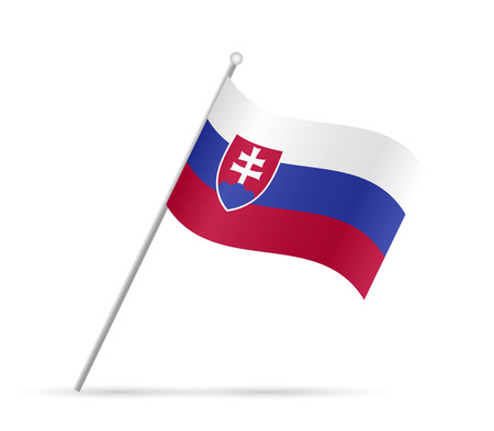 slovakian: Illustration of a flag from Slovakia isolated on a white background. Illustration