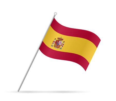 Illustration of a flag from Spain isolated on a white background.