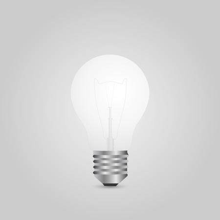 Illustration of a lightbulb isolated on a gray background. Ilustração