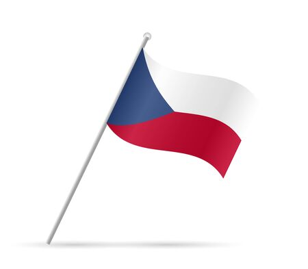 Illustration of a flag from Czech Republic isolated on a white background.