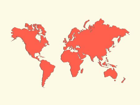 Illustration of a world map