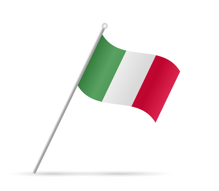 Illustration of a flag from Italy isolated on a white background. Ilustração