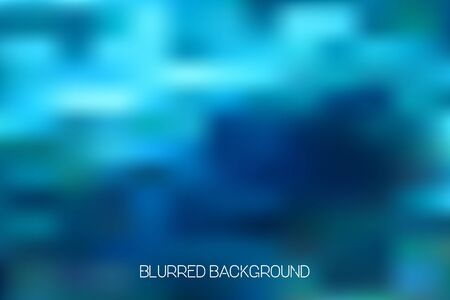 Colorful abstract ocean blur background illustration