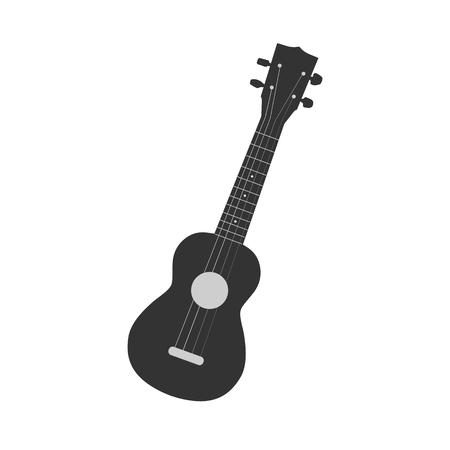 Ilustración de un ukelele aislado en un fondo blanco.