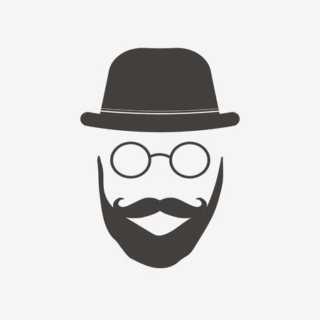 Hipster glasses illustration on a white background Ilustração