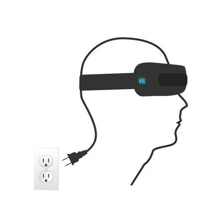 Virtual reality illustration on a white background. Illustration
