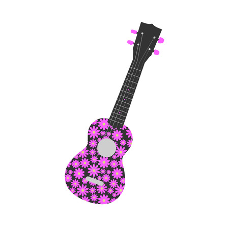 ukulele: Illustration of a ukulele isolated on a white background. Illustration