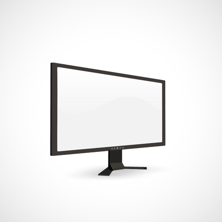 Illustration of a blank computer screen. Çizim