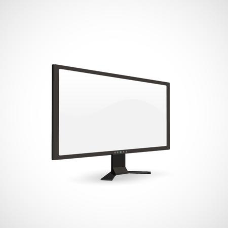Illustration of a blank computer screen. Ilustração