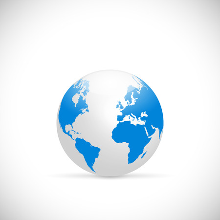 Illustration of the earth isolated on a white background. Stock Illustratie