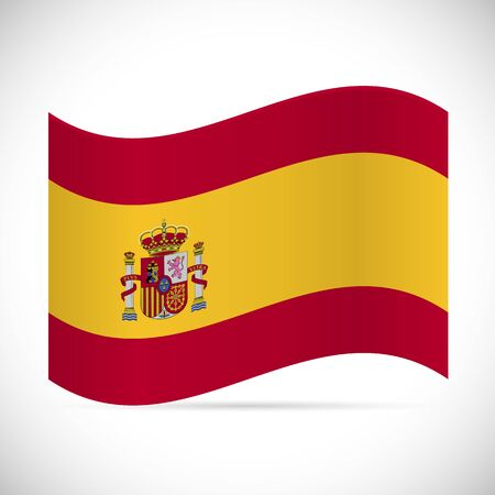 Illustration of the flag of Spain isolated on a white background.